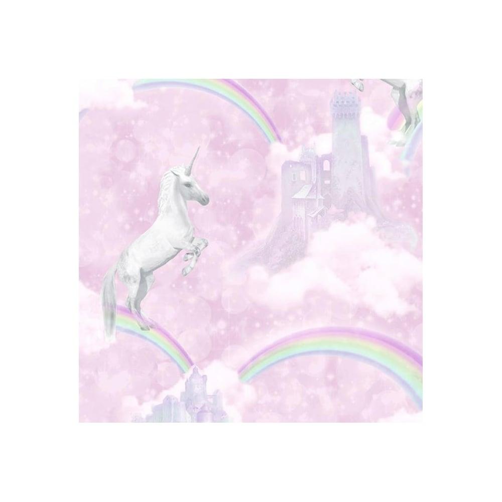 Holden Pink Glitter Unicorns Girls Wallpaper 12480 Uncategorised