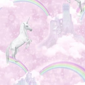Pink Glitter Unicorns Girls Wallpaper 12480