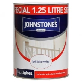 Johnstones Brilliant White 1.25l Liquid Gloss Paint