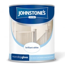 Johnstones Brilliant White 1.25l Non Drip Gloss Paint