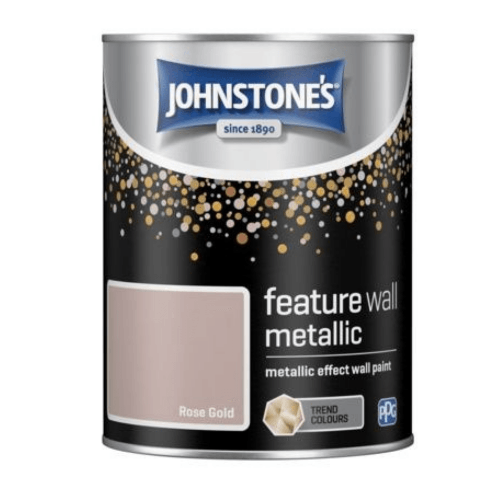 Johnstones Rose Gold Metallic Effect Feature Wall Paint 1