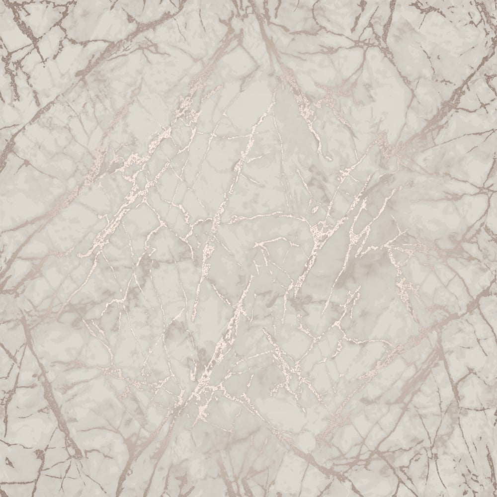 Marblesque Rose Gold Metallic Geometric Wallpaper Fd42268