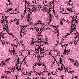 Baroque Hot Pink Shimmer Sparkle Metallic Damask Wallpaper 701347