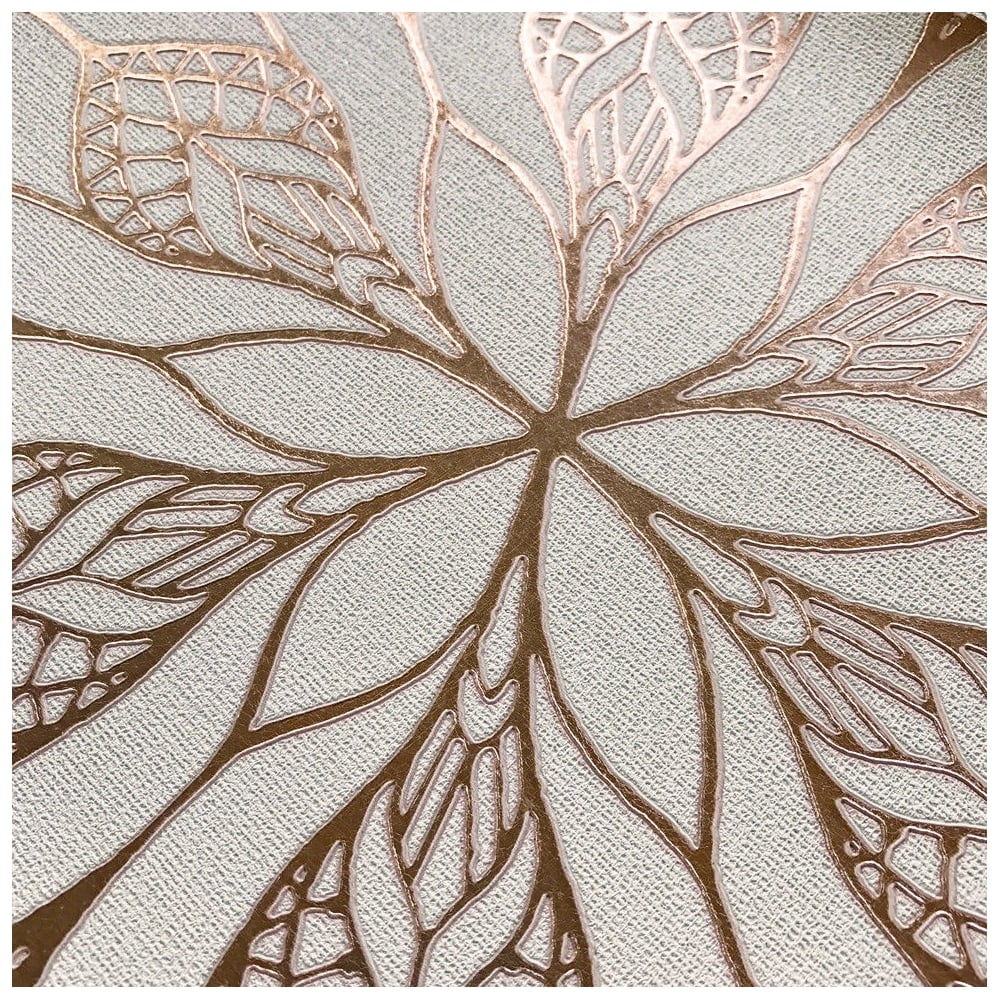 Muriva muriva couture floral eve cream and rose gold metallic floral wallpaper 701470