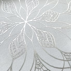 Muriva Couture Floral Eve Grey And Silver Metallic Foil Wallpaper 701471