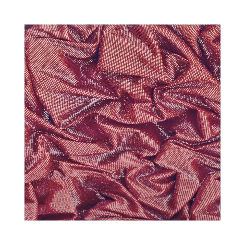 Crushed Red Glitter Sparkle Satin Wallpaper L14210