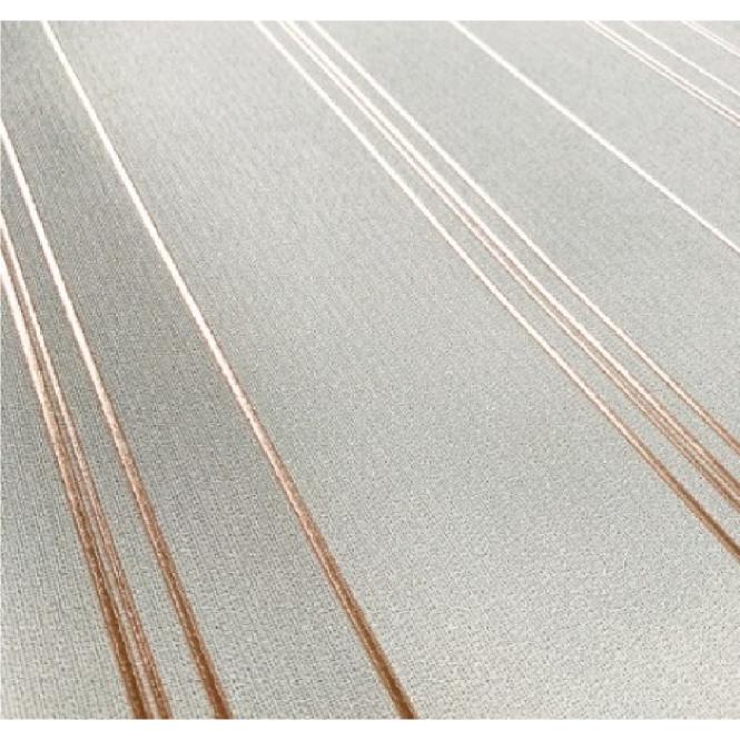 Eve Cream And Rose Gold Metallic Foil Stripe Wallpaper 701480