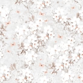 Lipsy London Coral Spring Blossom Glitter Wallpaper 144012