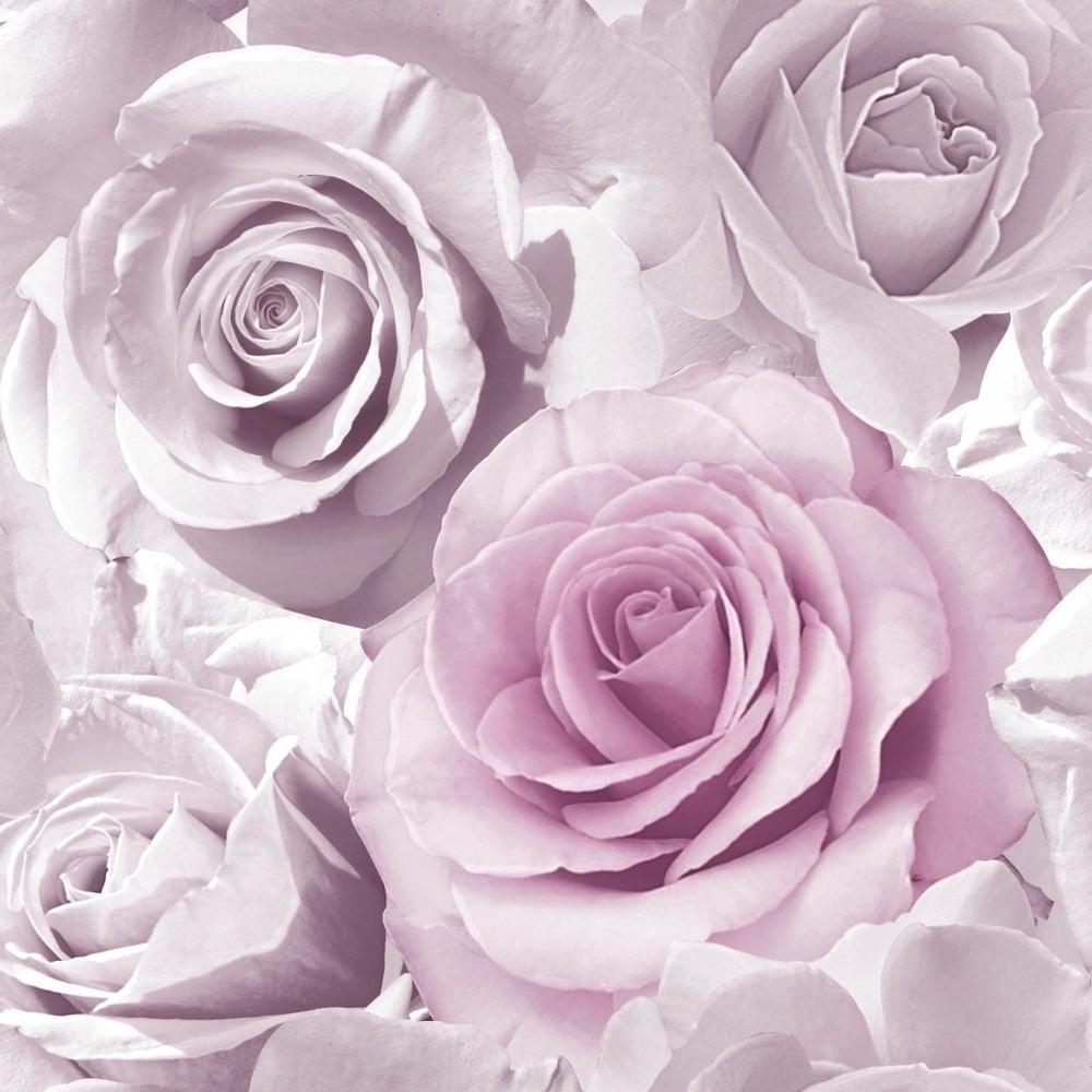 Madison Amethyst Purple Glitter Roses Floral Wallpaper 139522