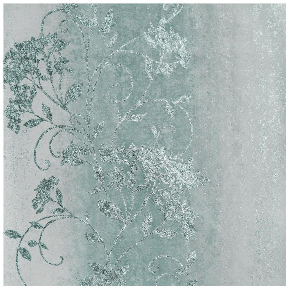 Muriva Sienna Trail Ombre Duck Egg Metallic Wallpaper