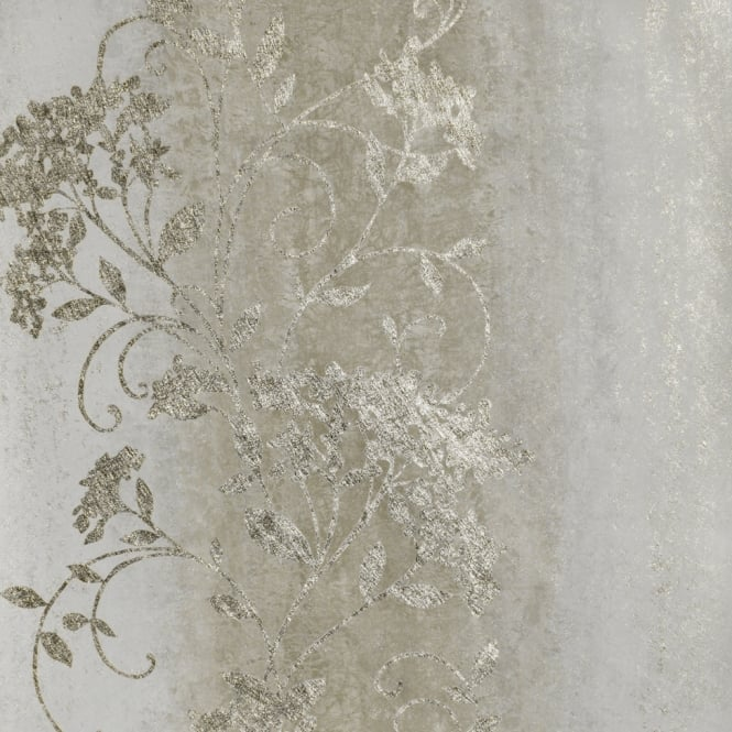 Sienna Trail Ombre Silver And Gold Metallic Wallpaper 701581