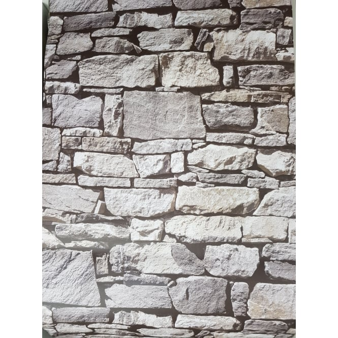 MURIVA Stone Effect Natural Wallpaper 601514