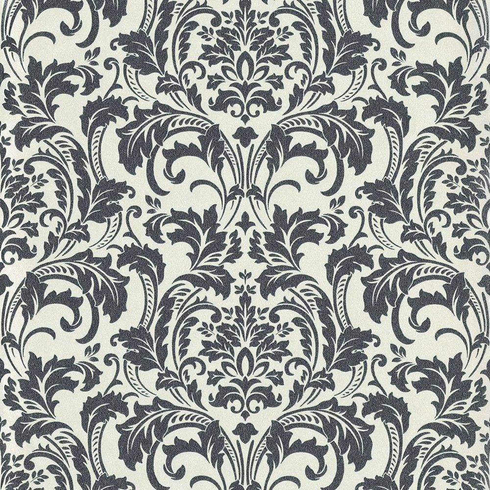 check out 38b2c 04773 Deluxe Black & White Glass Beads Damask Wallpaper By Guido Maria Kretschmer  41005-60