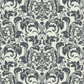 Deluxe Black White Glass Beads Damask Wallpaper By Guido Maria Kretschmer 41005 60