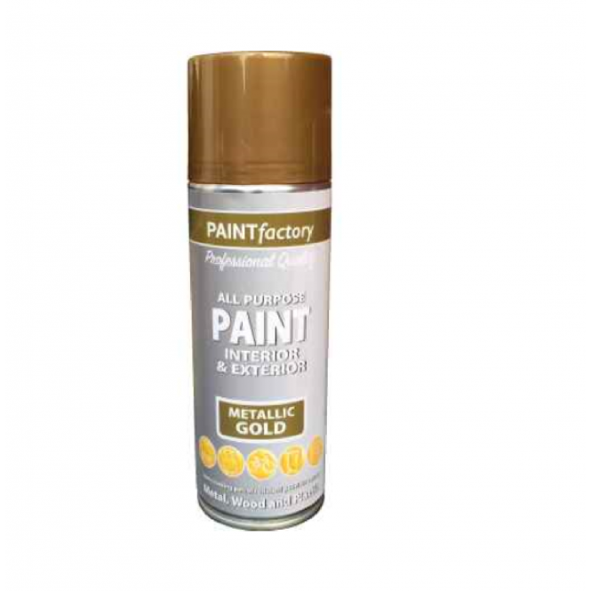 Paint Factory Metallic Gold Spray 400Ml