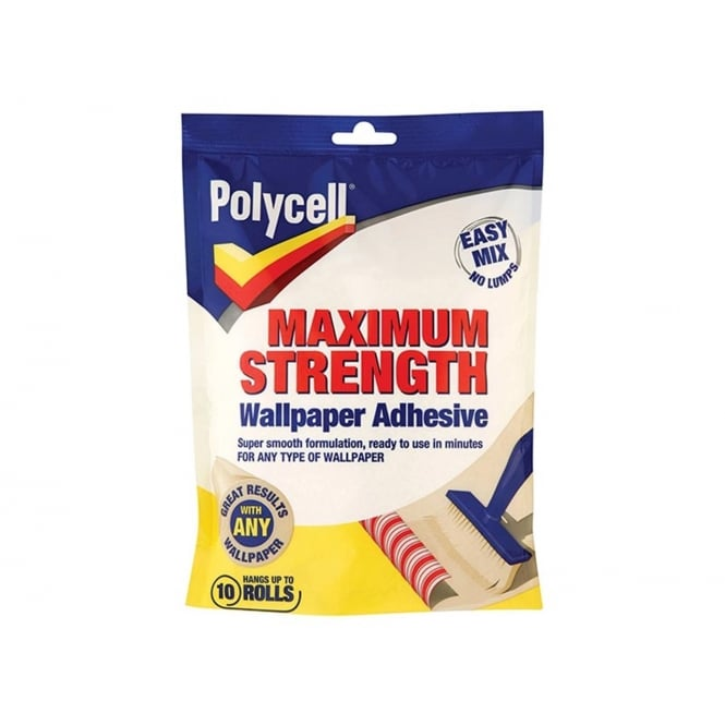 Polycell Maximum Strength Wallpaper Paste Adhesive 10 Roll