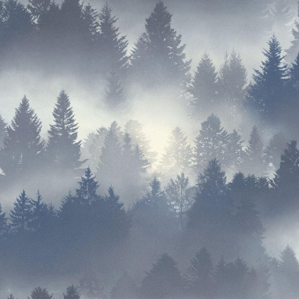 Barbara Becker Blue Misty Forest Wallpaper 860832