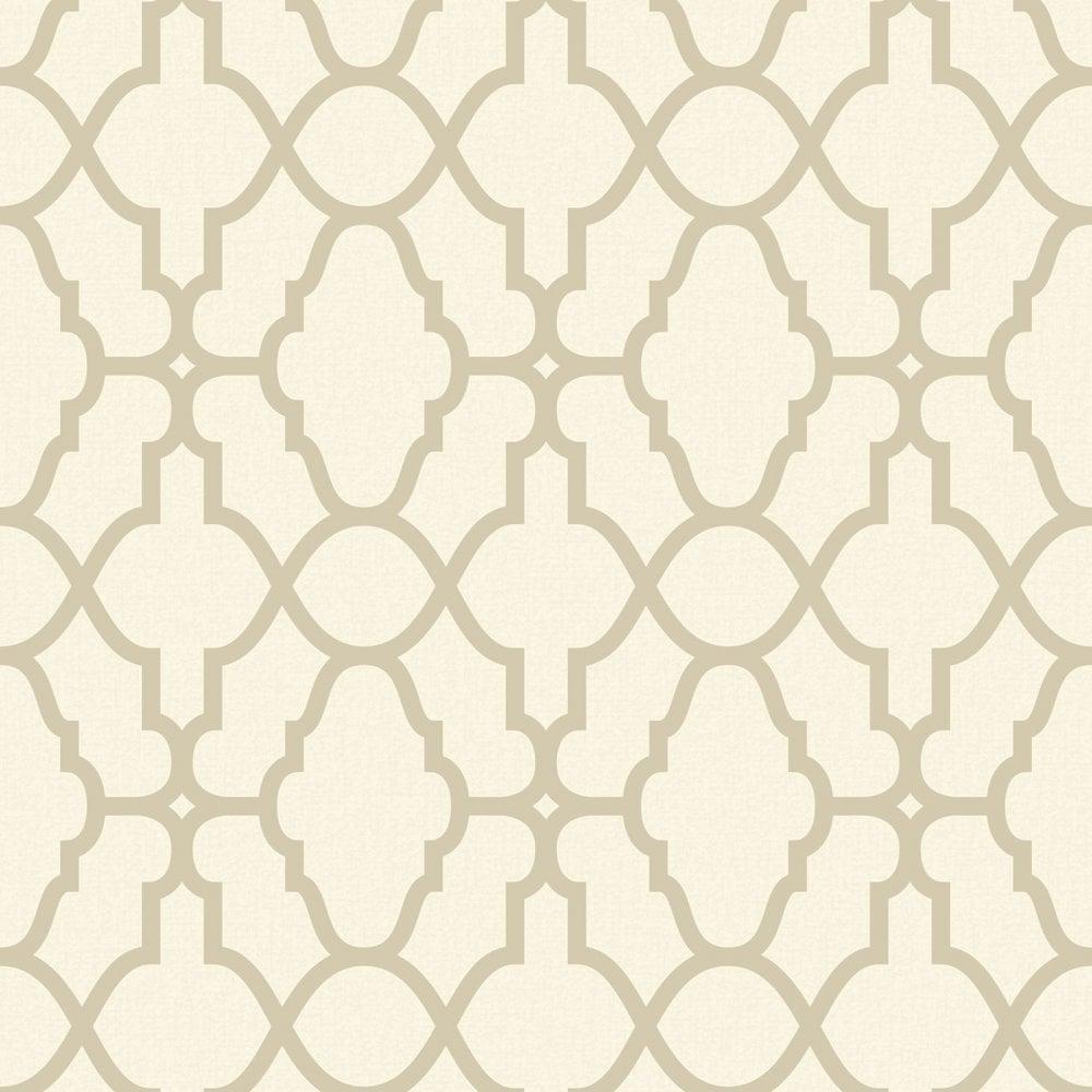 Rasch Casablanca Cream And Gold Geometric Wallpaper 309317
