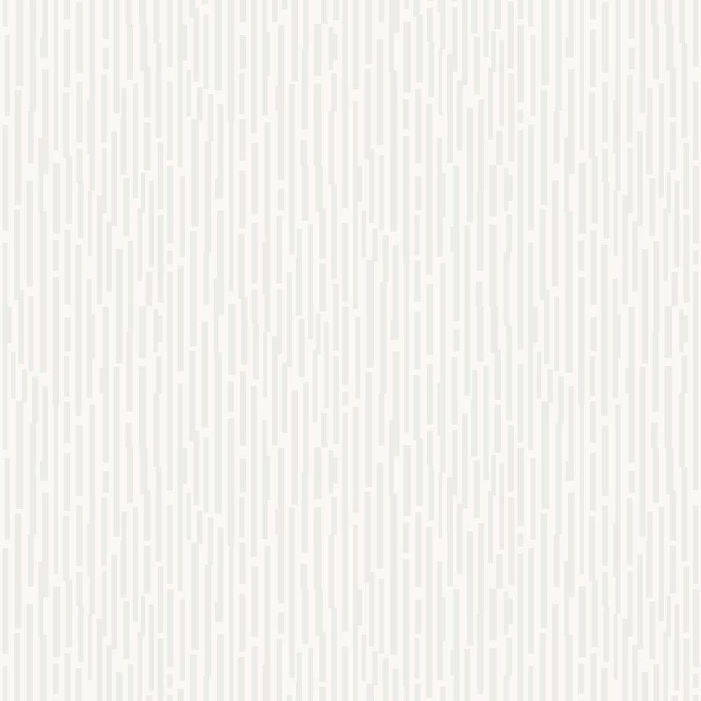 Chic Cream And White Glitter Match Stick Stripe Metallic Wallpaper 317510