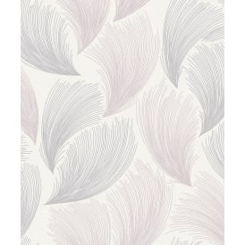 Gatsby White And Pink Glitter Gel Wallpaper 319705