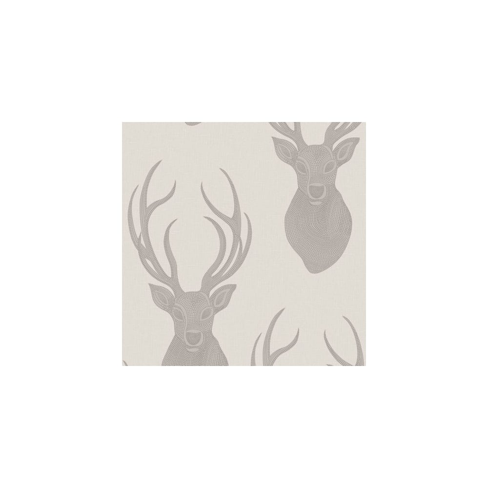 STAGS WALLPAPER TAUPE RASCH 273700 NEW FEATURE WALL