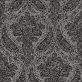 Roma Black And Silver Damask Wallpaper 208627