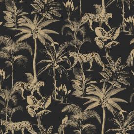 Black Animal Print