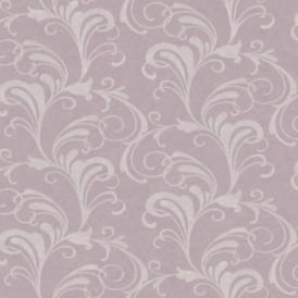 Valentina Neautral Lilac Stone Glitter Scroll Wallpaper 301854