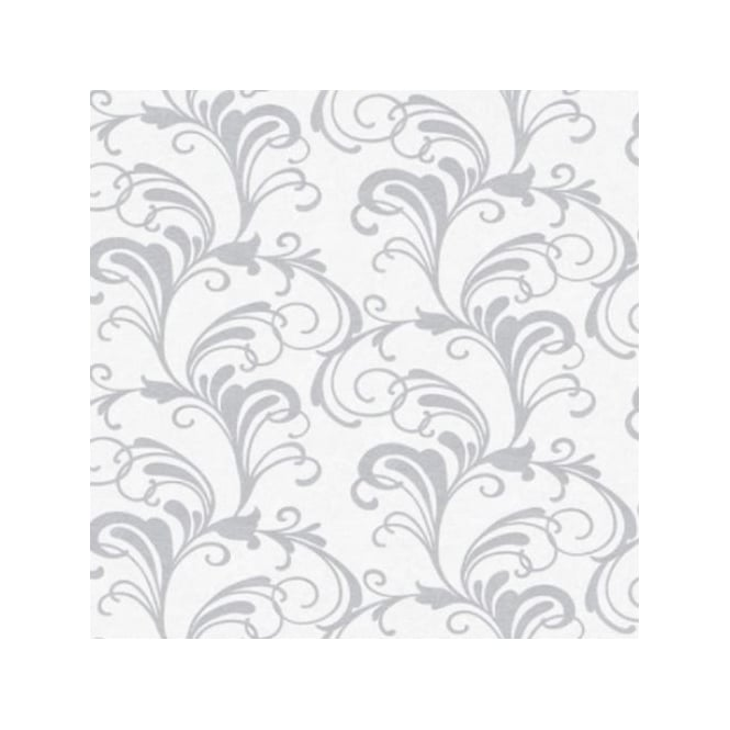 Rasch Valentina White And Grey Glitter Scroll Wallpaper 301823