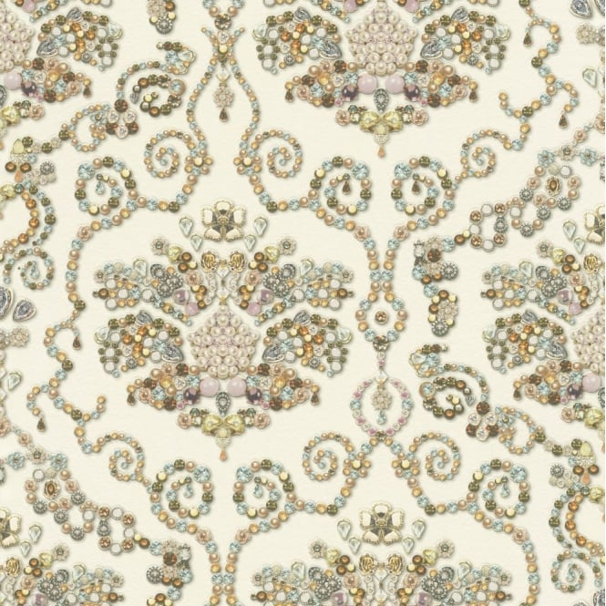 RASCH Vintage Beads And Gems Kitchen And Bathroom Wallpaper 307603
