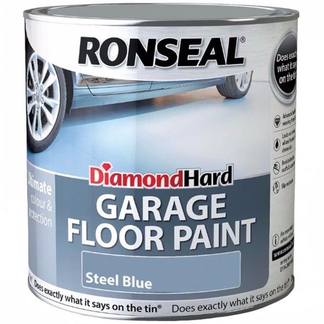 Ronseal Diamond Hard Garage Floor Paint Steel Blue 2 5l
