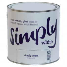 Simply White Non Drip Gloss Paint 2.5L