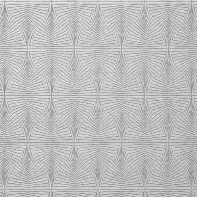 Solitare Grey Geometric Metallic Wallpaper 801304